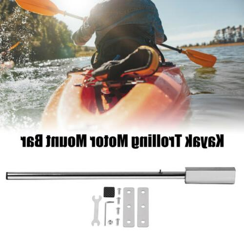 Stainless Steel Kayak Trolling Motor Mount Bar with Hardware