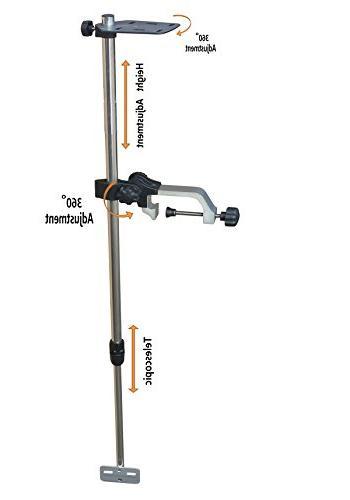 telescopic portable transducer bracket
