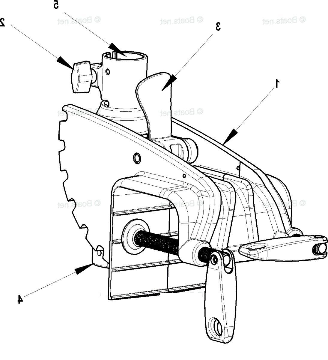 MOTORGUIDE BRACKET TRANSOM 8m0057337