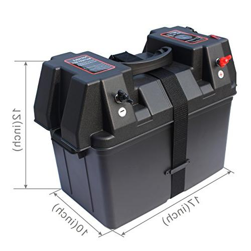 iztor Trolling Battery Box with voltmeter USB charger port