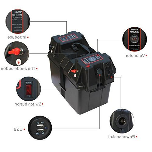 iztor Trolling Motor Smart Battery Box Power with USB charger