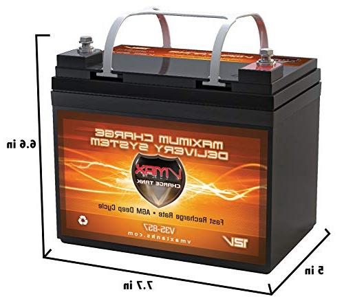 Boat 12V AGM Battery + Box Circuit Breaker Smart Charger 100% Battery trolling motors.