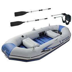 Intex Mariner 3 Person Inflatable Dinghy Boat & Oars Set + B