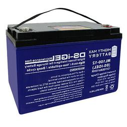 Mighty Max 12V 100AH GEL Battery Replaces Baja Boss Power Bo