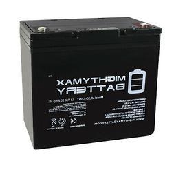 Mighty Max 12V 55AH Internal Thread Battery for Minn Kota En