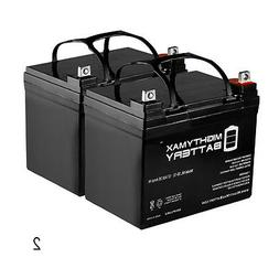 Mighty Max ML35-12 - 12V 35AH Sealed AGM Battery - 2 Pack