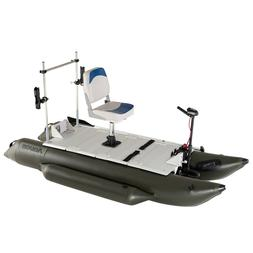 AQUOS NEW 8.8ft FishMe Pontoon Boat&Grab Bar&Seat&20LBS BowM