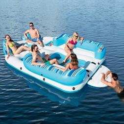 NEW MEGA HUGE GIANT INFLATABLE BAHAMA WAVE 6 PERSON ISLAND L