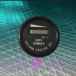 PRO12-48M ™ 24 Volt Battery Indicator, Meter Marine Trolli