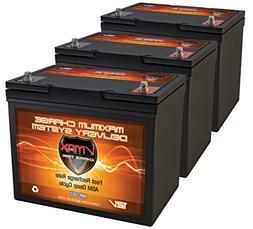 QTY3 VMAX MR107-85 12V 85AH AGM Deep Cycle Group 24 Batterie