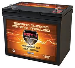 Vmaxtanks MR107 12V 85AH Marine AGM SLA Deep Cycle Battery i
