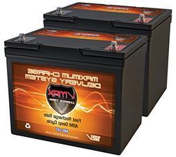 QTY2 VMAX MR107-85 12V 85AH AGM Deep Cycle Group 24 Batterie