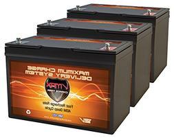 QTY3 VMAX MR127-100 12V 100AH AGM Deep Cycle Group 27 Batter