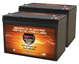 QTY2 VMAX MR127-100 12V 100AH AGM Deep Cycle Group 27 Batter