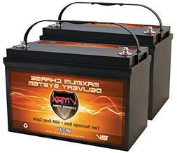 QTY2 VMAX MR137-120 12V 120AH AGM Deep Cycle Group 31 Batter