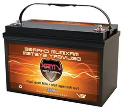 VMAX MR137-120 12V 120Ah AGM Deep Cycle Marine Battery for M