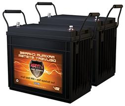 QTY2 VMAX MR147-155 12V 155AH AGM Deep Cycle Batteries for M
