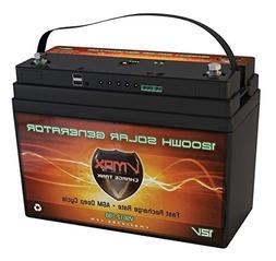 VMAX VSG12-1300 12V 100Ah AGM Deep Cycle Marine Battery for