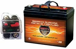 VMAX857 AGM 12V Boat Battery for 18-40lb Trolling Motor +1 6