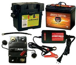 """VMAX857 + Charger + Box +9"""" Cable + Circuit Breaker 12V Trol"""