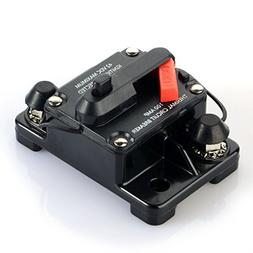 50 Amp Waterproof Car Auto Circuit Breaker Fuse Trolling wit