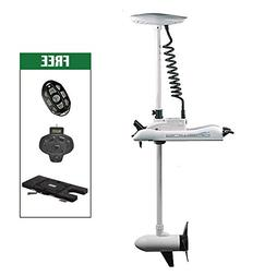 """Aquos White Haswing 12V 55LBS 54"""" Shaft Bow Mount Electric T"""